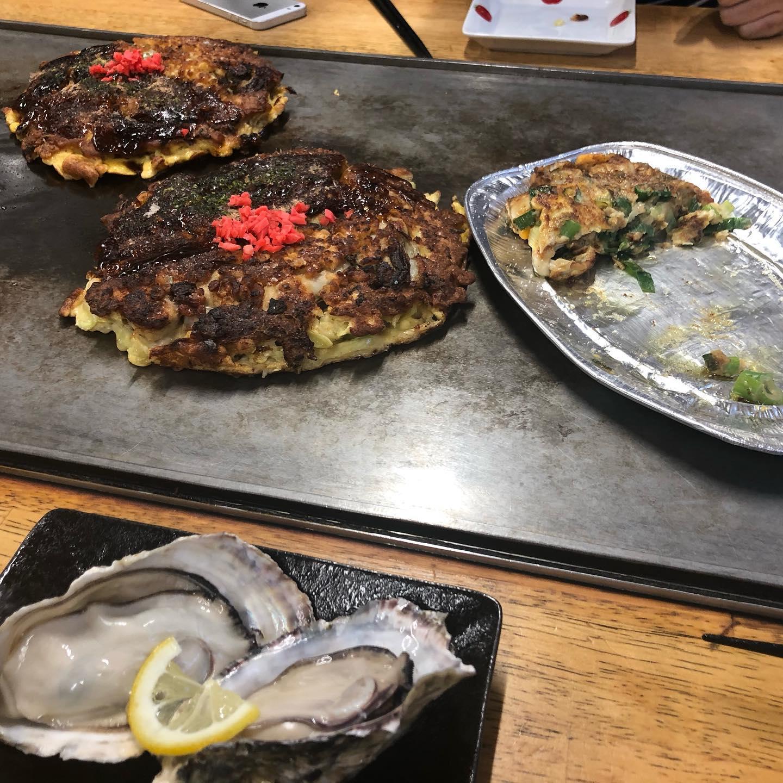 噂のカキオコを食べに岡山までやってきました