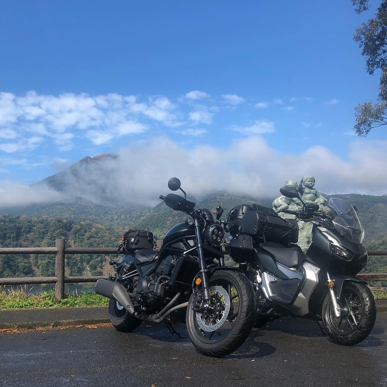 霧島バードライン走ってますいい天気になったーー